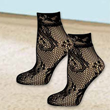 Lacy Blooms Ankle Stockings