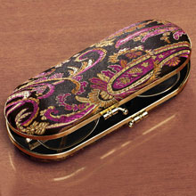 Black Paisley Eyeglass Case