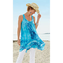 Dramatic Tie-Dyed Tunic