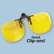 Night-Driving Clip-On Lenses