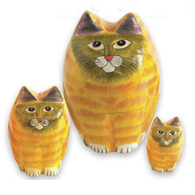 Cat Nesting Dolls - 3 pc. Set