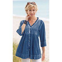 Italian Wash Pleated Top