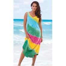 Rainbow Tie-Dyed Maxi Dress