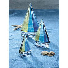 Large Crystal Sailboat