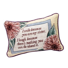 I Smile Sister Pillow