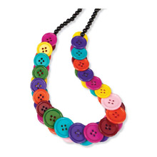 Buttons Stretch Necklace