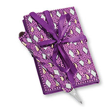 Purple Bejewelled Notebook & Pen Set