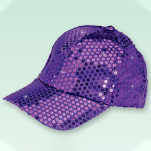 Purple Sequined Glamour Cap