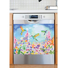 Hummingbird Garden Dishwasher Magnet Art