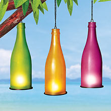 Colourful Tea Light Bottles