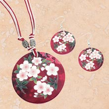 Cherry Blossom Shell Jewellery Set