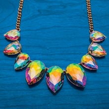 Aurora Borealis Teardrop Necklace