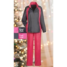 Pink Jacket/Grey Pant Slimming & Sporty Jog Set