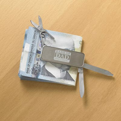 Bank of Dad Pocket Knife/Money Clip