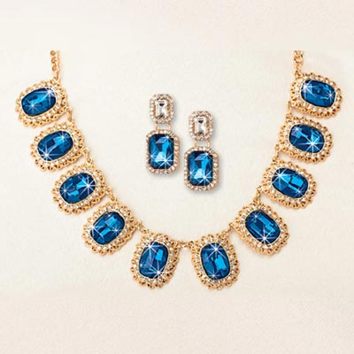 Blue Goddess Jewellery Set