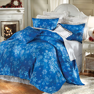 Winter Snowflake Fleece Bedding