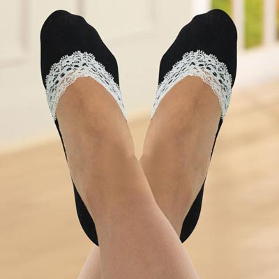 Lace-Edged Socks