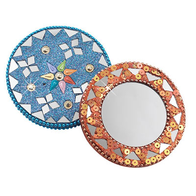 Glittery Mirror Compact Set