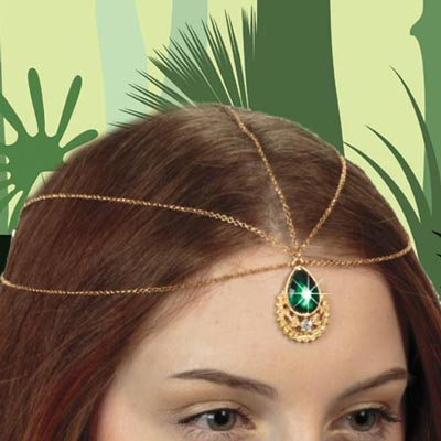 Faux Emerald Headpiece