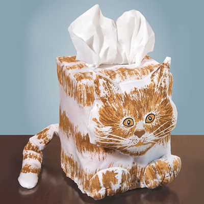 Cat Tissue Box Cover