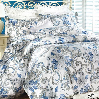 Blue Floral Duvet Set