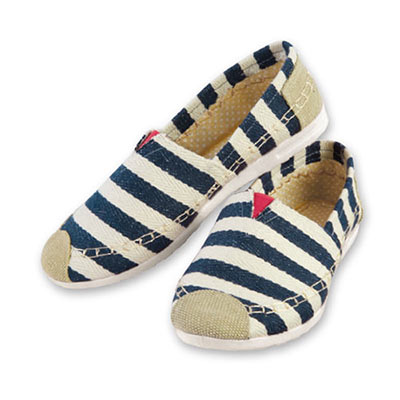 Blue Striped Loafers