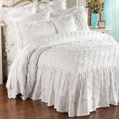 Circle Medallion Chenille Bedding