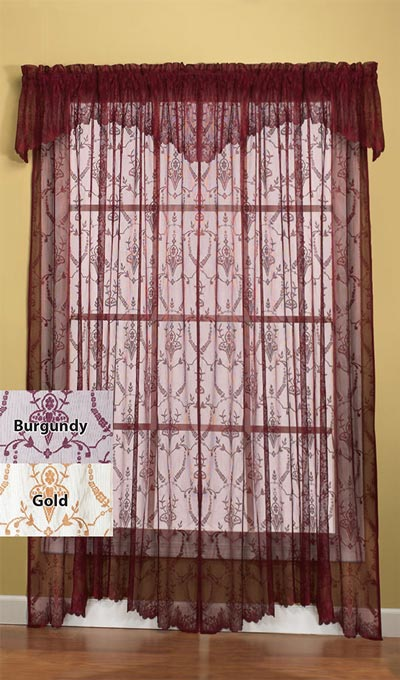 Lacy Leaf Window Valance