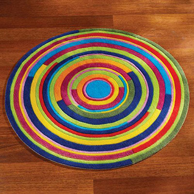 Colourful Swirl Rug