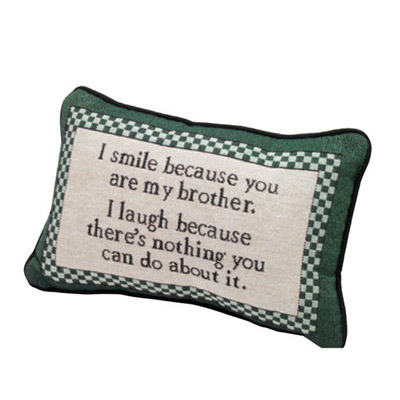 I Smile Brother Pillow