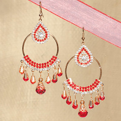 Ornate Droplet Earrings