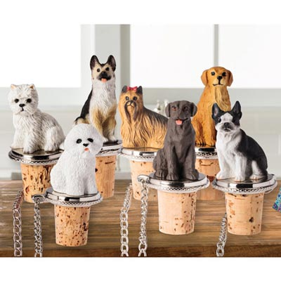 Dog Breed Wine Stoppers