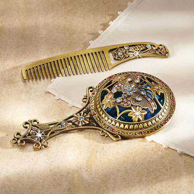 Heirloom Mirror & Comb Set