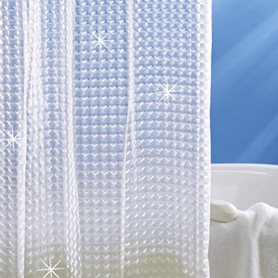 Holographic 3 D Shower Curtain