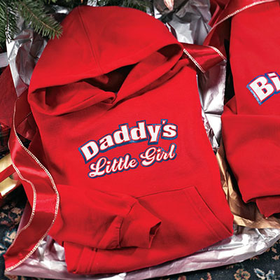 Daddy's Little Girl Youth Hoodie Sweatshirt