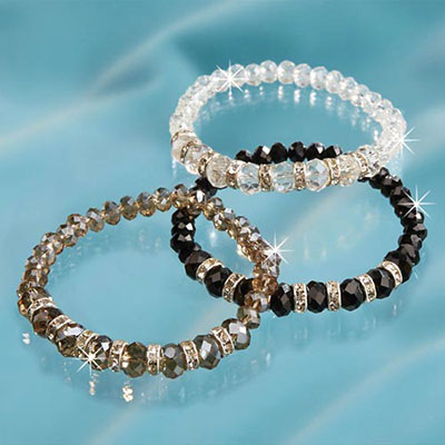 Faceted & Fabulous Bling Bracelet