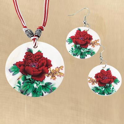 Rose Blossom Shell Jewellery