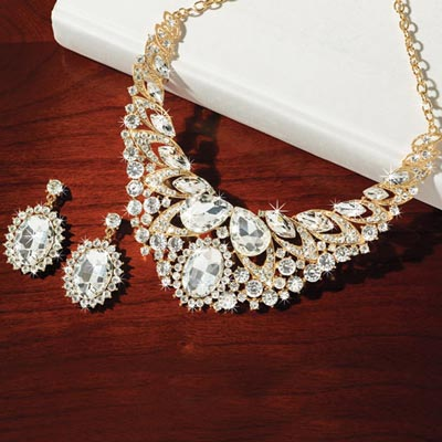Extravagant Bling Jewellery Set
