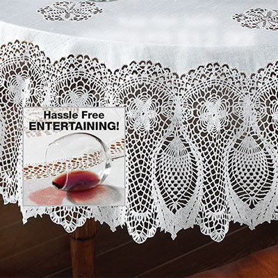 Faux Lace Tablecloth