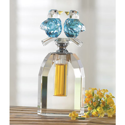 Crystal Birds Perfume Bottle