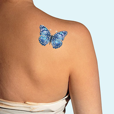 Blingy Butterfly Tattoo