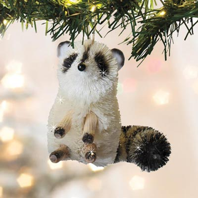 Buri Wildlife Ornaments - Racoon