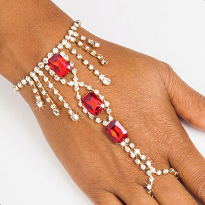 Crimson Bracelet & Ring Combination