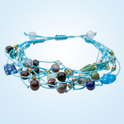 Colourful Cluster Beaded Bracelet