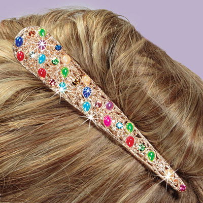 Filigree & Bejewelled Hair Clip