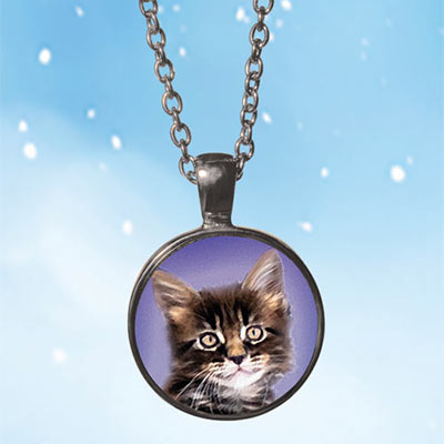 Brilliant Kitty Necklace