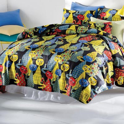 Krazy Katz Fleece Bedding