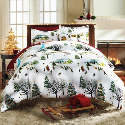 Christmas Village Duvet Set & Accessory