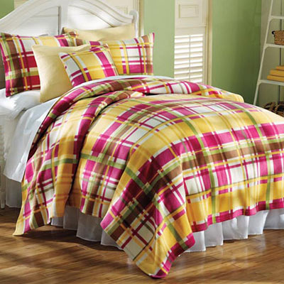 Fresh Plaid Fleece Bedding