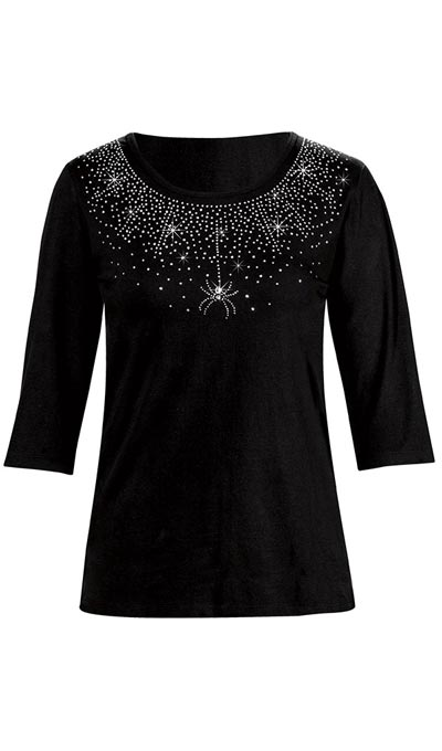 Crystal Spider Web Top